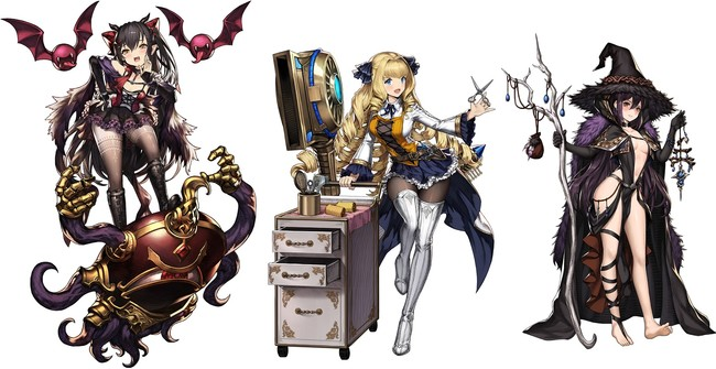 左から、「メラニー」、「ローラ」、「アヴァ」