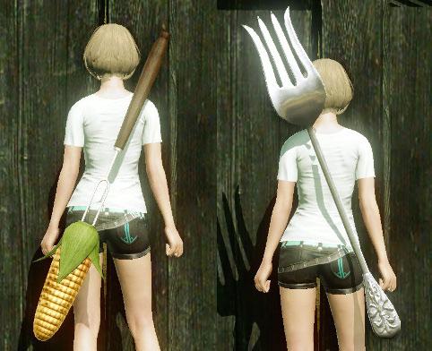 ▲料理器具型武器の一例