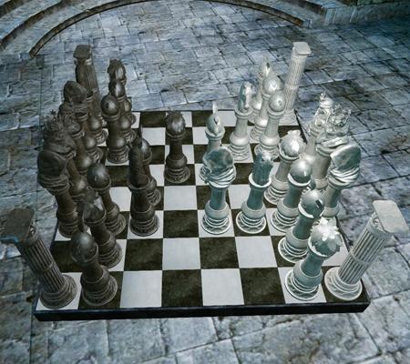 ▲純白と漆黒のチェス