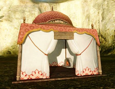 ▲丸い屋根のサンライトテント (完工テント集:8x8から獲得可能)