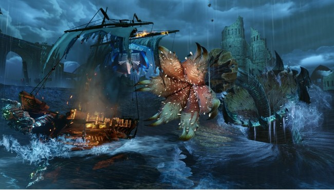 ▲モンスターは陸海空至る所に出没!積極的に戦ってアイテムを手に入れよう!