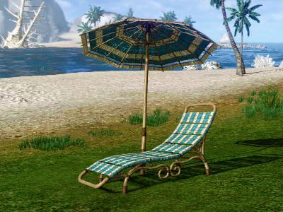 ▲イベント限定家具「太陽に横たわるビーチパラソル」