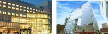 (左)ホテル メルパルク熊本(右)メルパルク京都