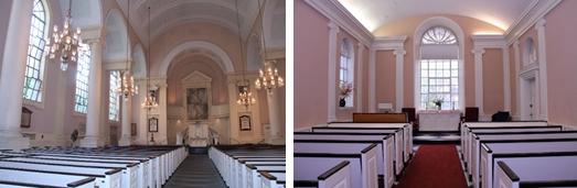 (左)ユニタリアン教会 大聖堂(右)ユニタリアン教会 チャペル