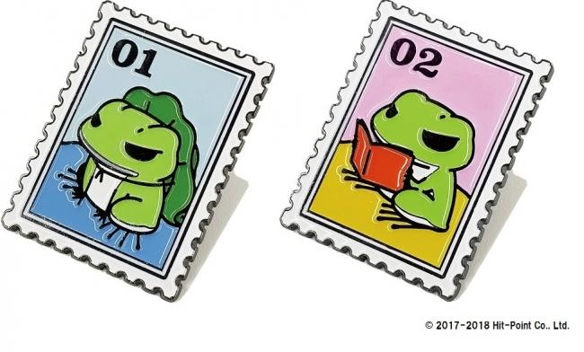 切手風ピンズ