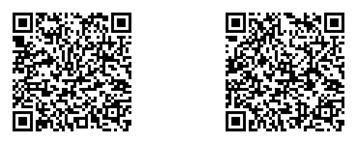 (QRコード左)Android版 (QRコード右)iOS版