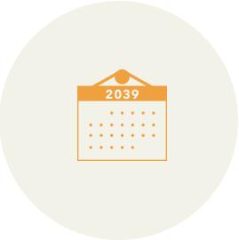 開封は2039年です。 ご家族皆様で20年後のいつ開けるかを決めて 缶に開封予定日を書いておきましょう。 フライングは禁物です。
