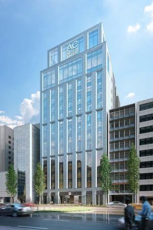 ACホテル・バイ・マリオット東京銀座 建物外観イメージパース