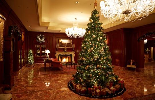 1Fロビーに設置される、  高さ約3.5mのクリスマスツリー