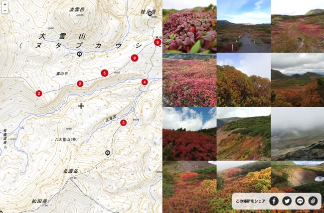 北海道・大雪山エリアでの紅葉状況(鮮やか…!)