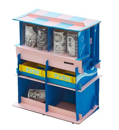 〇「つむぱぱ」と「つむぎちゃん」も自動販売機を作ってみました。