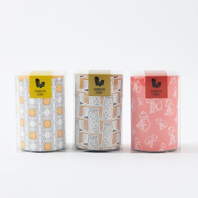 SHIBUYAFONT 茶筒ティーギフト ¥ 1,080 税込