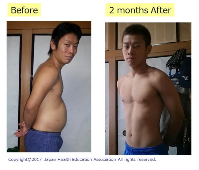 自転車競技選手(23歳)の実例。お米を約3~5倍食べ、おかずは増やさない、白米+雑穀というメニューを実践し、2ヶ月で-12㎏。
