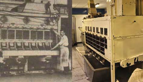 シャポンは、100年前のロースターを改良して、今も使い続けている