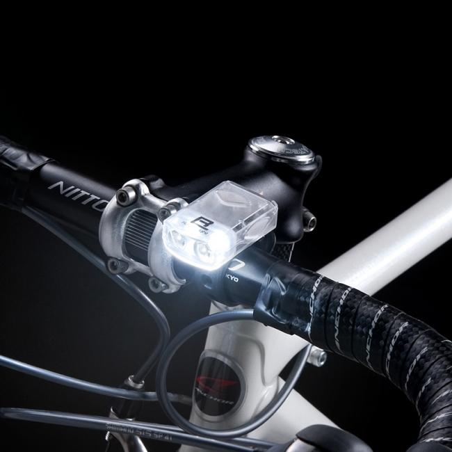 !簡単装着の自転車用ライト ...