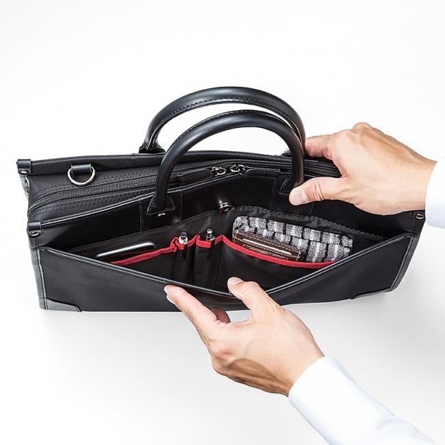 e4686e9d5204 中身をサッと取り出せ、撥水性も兼ね備えた就活にも使えるビジネスバッグ ...