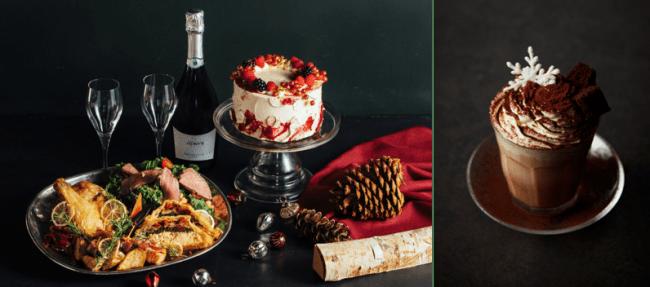 左)F&E Christmas Dinner Box、F&E Christmas Cake (15cm)、F&E Christmas Plate、右)Tiramisu Mocha