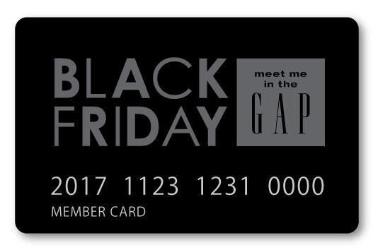 Gapブラックフライデーカード