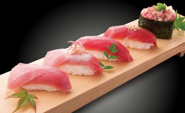 『生本鮪の握り寿司盛り合わせ』通常880円(税別)を半額の440円(税別)で