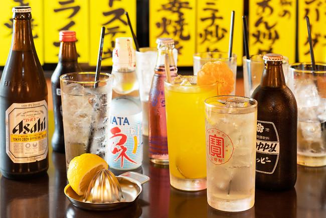 お酒のラインナップも昭和の情緒がいっぱい