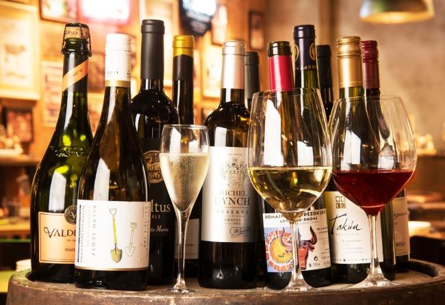 飲み放題だから、  気軽に料理とワインのペアリングを楽しめる