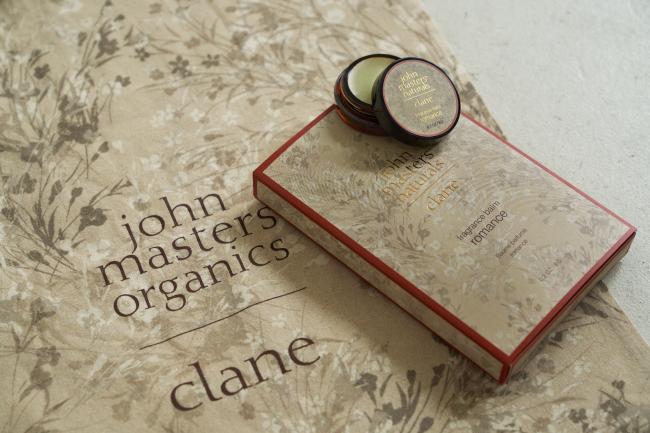 john masters organics × CLANE『フレグランスバーム ロマンス』3,200円(税抜)