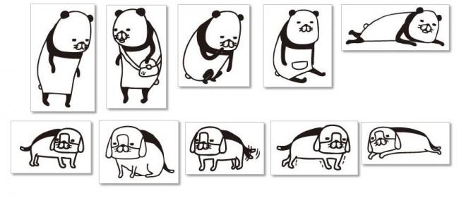 『パンダと犬 II』書店キャンペーンスタンプ