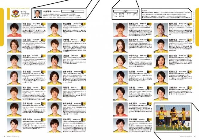 『 Plenusなでしこリーグ/Plenusチャレンジリーグ オフィシャルガイドブック 2019 』中面 (c)ぴあ