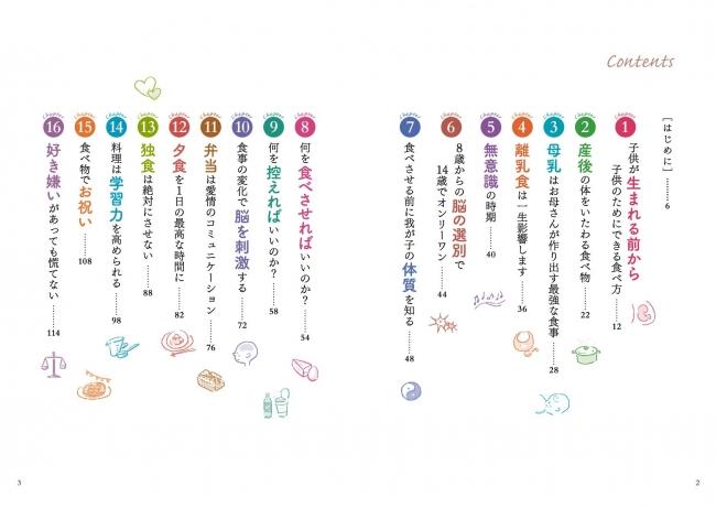 アグネス・チャン著『子供の一生を幸せにする24の食育術』(ぴあ)目次