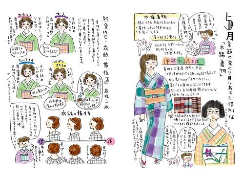 ハセガワ・アヤ『ばらいろ着物手帖』(ぴあ)中面イメージ (c)ぴあ