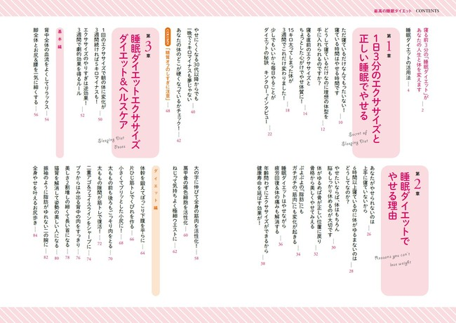 山田BODY『がんばらなくていい! しっかり寝るだけ! 最高の睡眠ダイエット』(ぴあ)目次