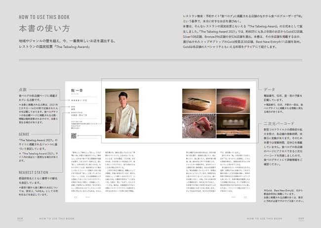 『The Tabelog Award 2021 公式本』(ぴあ)中面