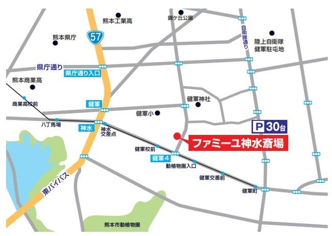 神水斎場アクセスマップ