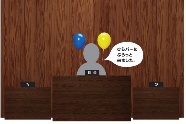 「ち」「び」園長席