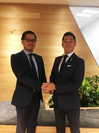 (左)CyberZ 取締役 市川 陽氏 (右)Adjust 日本カントリーマネージャー 佐々 直紀