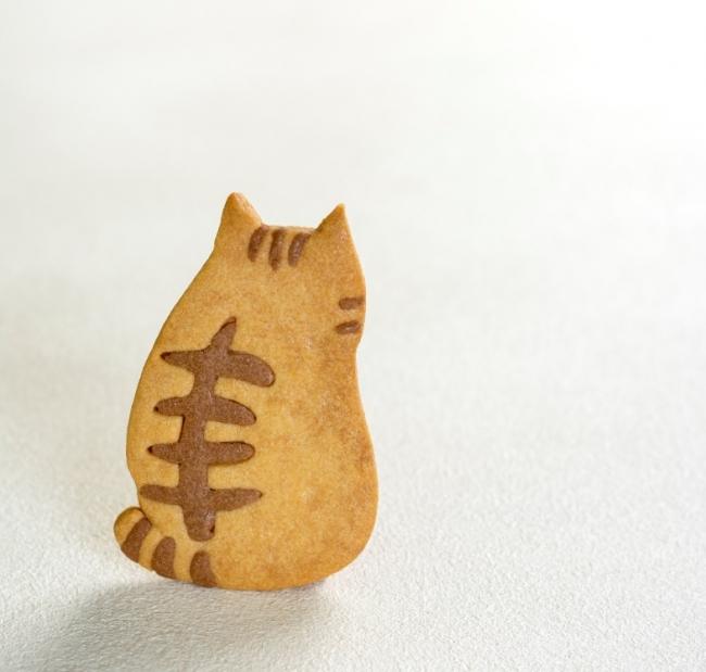 「にゃんこのサブレinKanazawa」能登塩を使った塩バターサブレ。トラの背中の哀愁は健在。