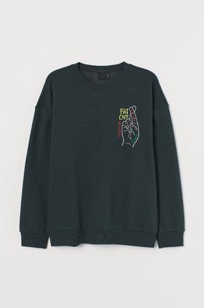 プリントスウェットシャツ¥2,999