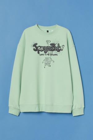 プリント オーバーサイズスウェットシャツ¥2,999
