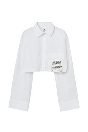 クロップドシャツ:5,999円 オーガニックコットン、TEXLOOP RCOT(TM)一部使用
