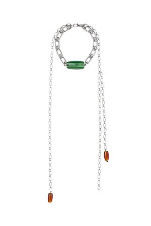 ネックレス:¥5,999 リサイクルガラス、リサイクル亜鉛一部使用