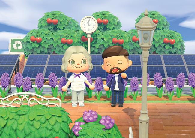 メイジ―・ウィリアムズとパスカル・ブルン(H&M、グローバル・サステナビリティ・マネージャー)のキャラクター