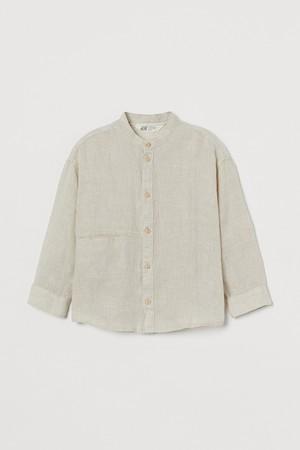 リネングランドファーザーシャツ¥2,799