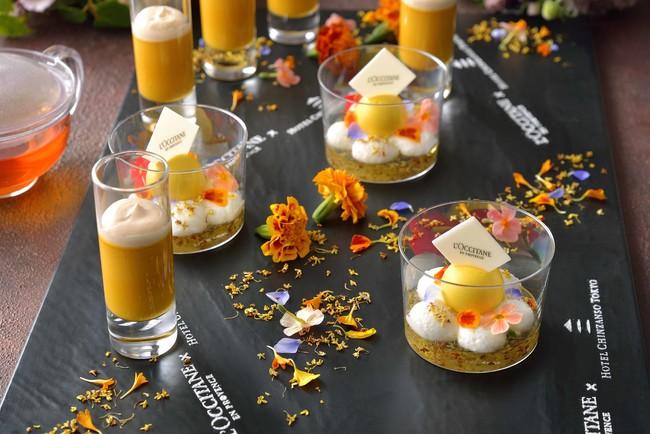 金木犀のムーンデザートと かぼちゃのプディング