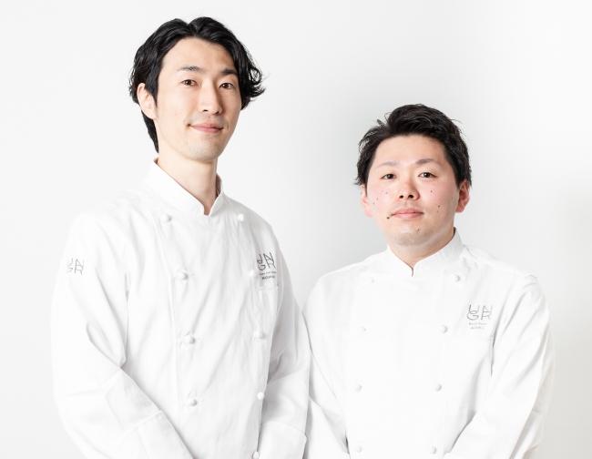 (左)新シェフの昆布 智成(右)新スーシェフ青木 繁