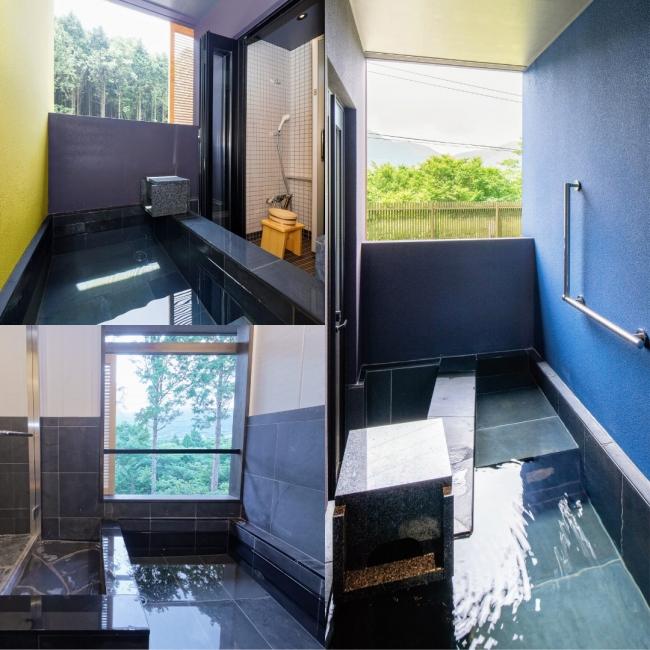 ススキの原一の湯のお部屋の露天風呂