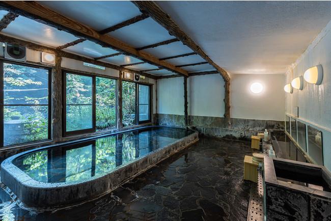 塔ノ沢一の湯本館 大浴場