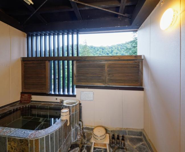 一の湯新館 客室露天風呂