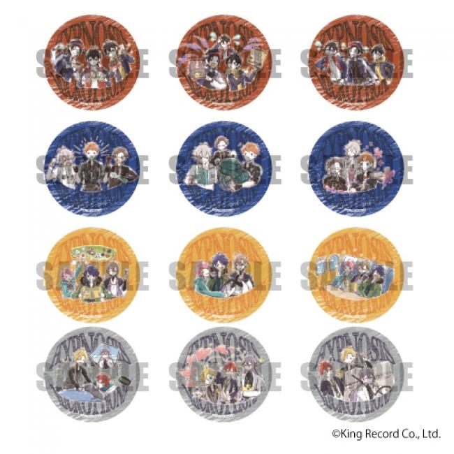 缶バッジ(全12種) 単品:480円(税抜) BOX:5,760円(税抜)