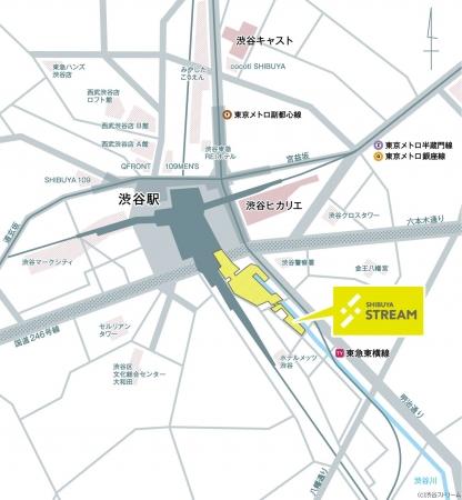 渋谷ストリーム位置図