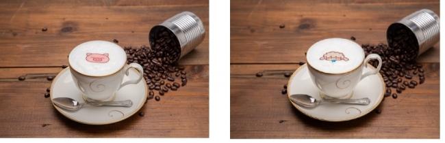 ぶたたのカフェオレ、めーたのカモミールミルクティー